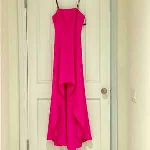 Pink high low gown size 6, Laundry